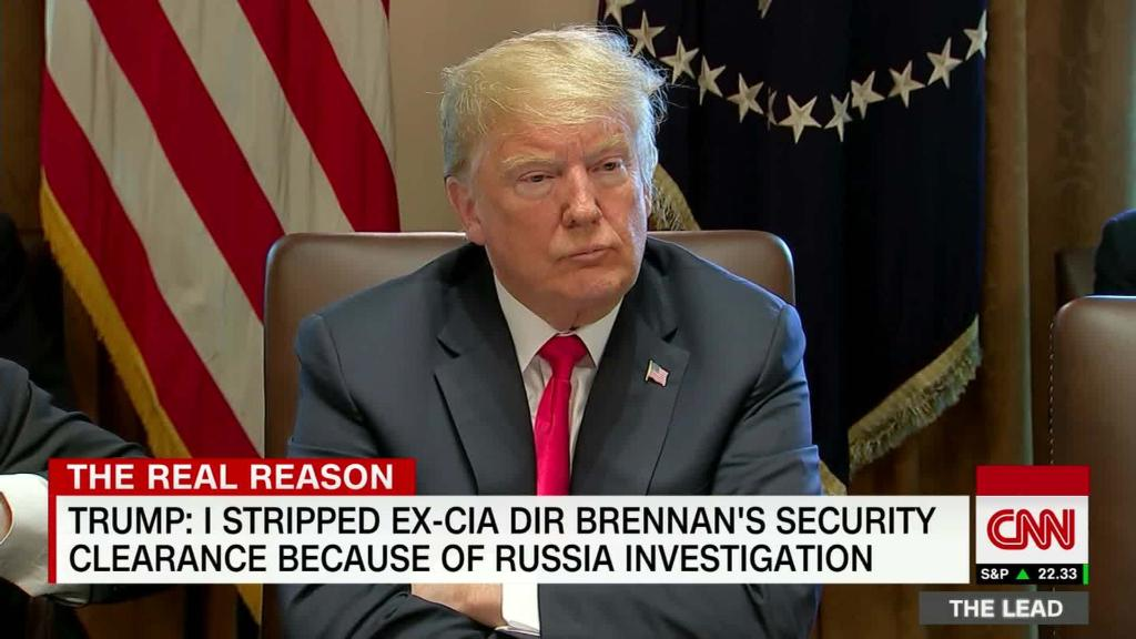 Trump: Brennan led the 'rigged witch hunt'