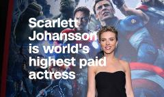 Scarlett Johansson is the world's highest paid actress