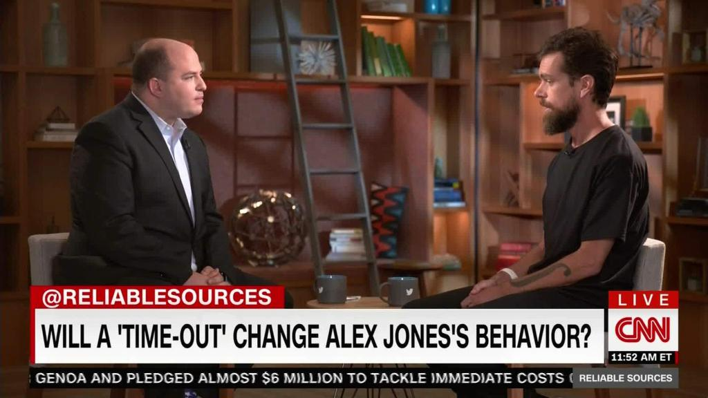Twitter CEO explains 'time-out' for Alex Jones