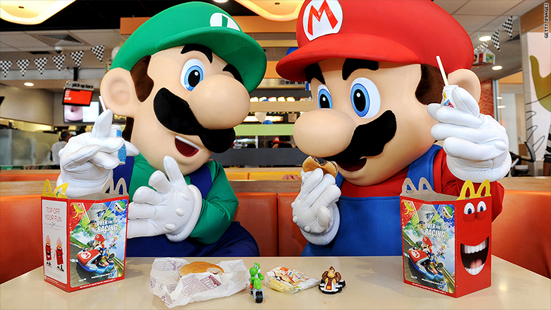 mcdonald happy meal marios luigi