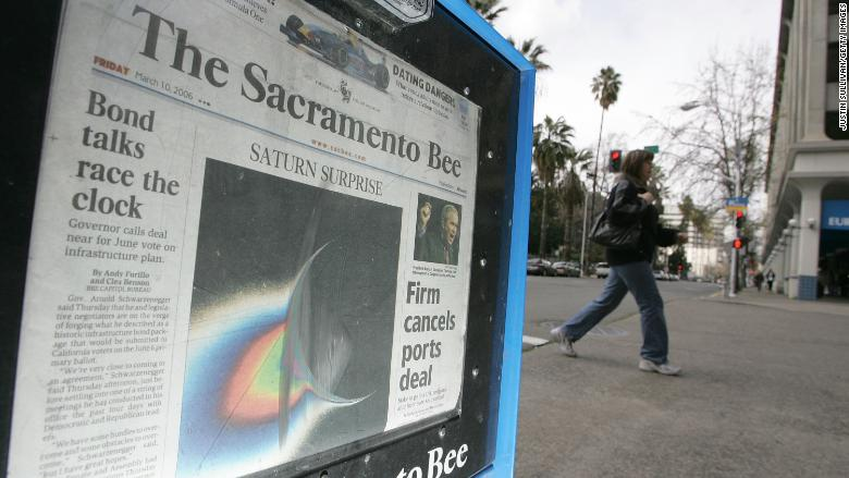 sacramento bee newspaper rack