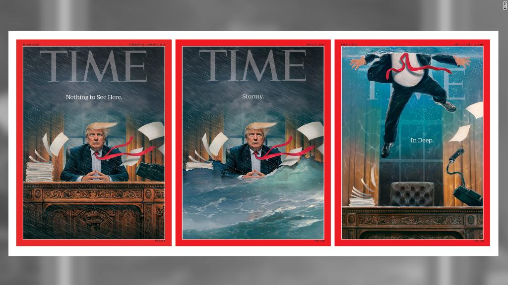 Time cover shows Trump drowning in Oval Office