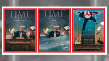 Time Magazine's latest Trump cover shows president drowning in Oval Office