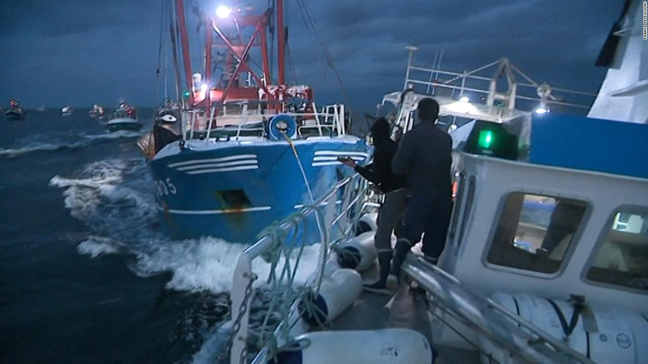 fishing boats rammed in row over scallops video