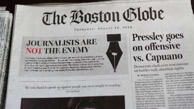 'You're the enemy of the people,' man allegedly said in threat to Boston Globe
