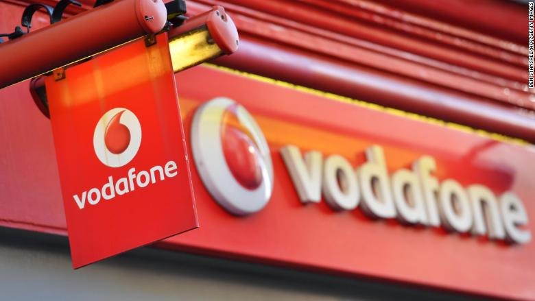 Vodafone store London logo