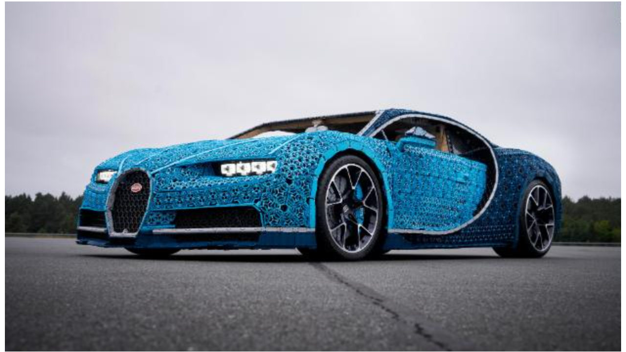 see this life size bugatti cheron made of lego video business news. Black Bedroom Furniture Sets. Home Design Ideas