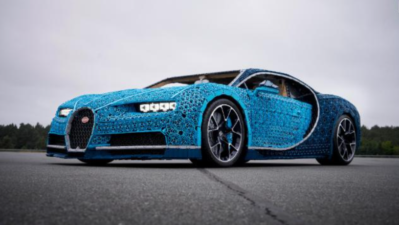 See This Life Size Bugatti Chiron Made Of Lego Video Business News