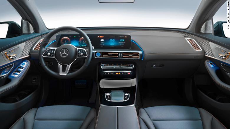 Mercedes-Benz EQC dashboard
