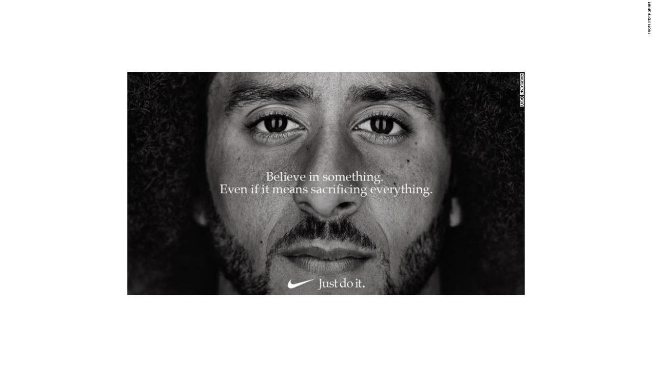 Derivar Vacante que te diviertas  See Nike's new Colin Kaepernick ad - Video - Business News