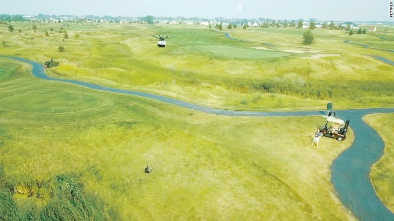 North Dakota Golf Course is Delivering Food to Golfers Via Drone