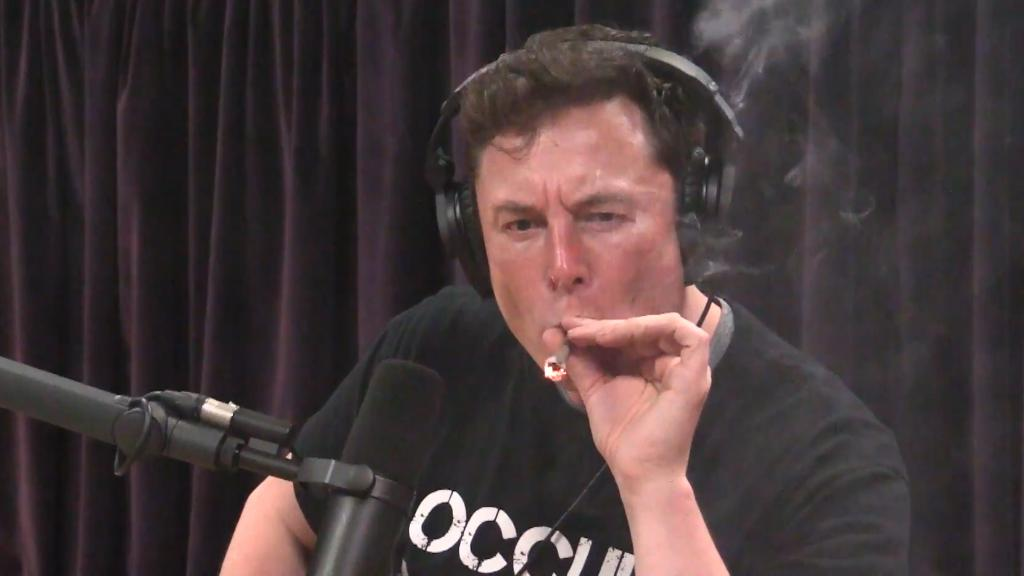 Elon Musk smokes weed during interview
