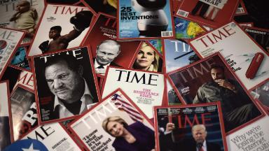Applause and anticipation from staffers a day after Time Magazine sale