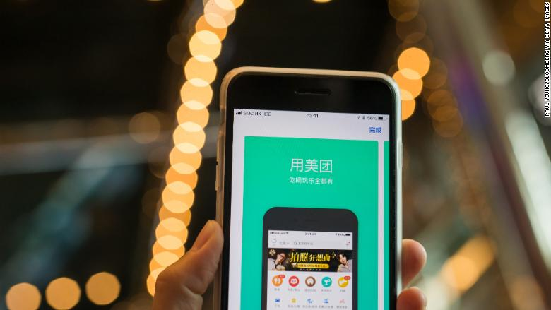 China's app for everything Meituan Dianping jumps in IPO