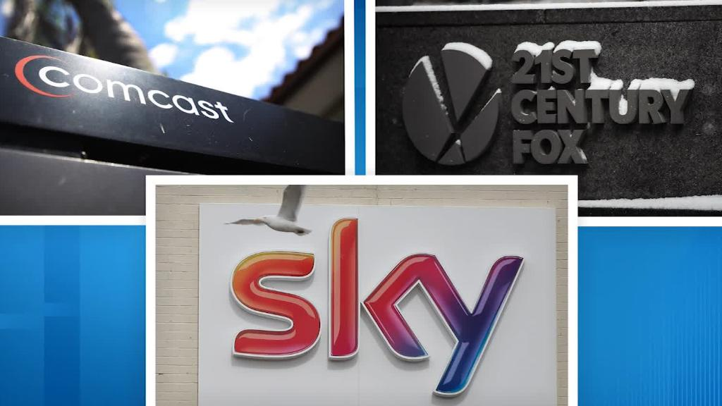 Comcast outbids Fox with €33bn offer for Sky in auction