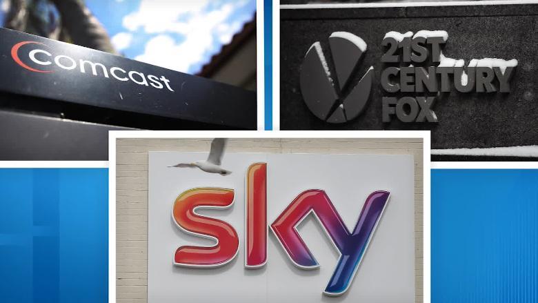 Comcast outbids 21st Century Fox for Sky