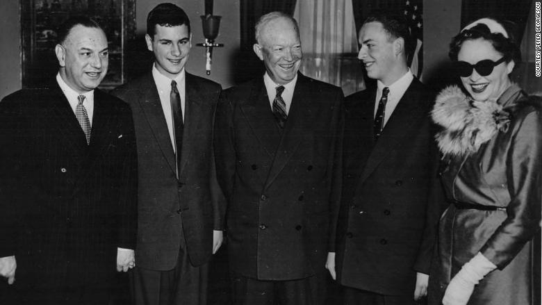 georgescu family meets president Eisenhower