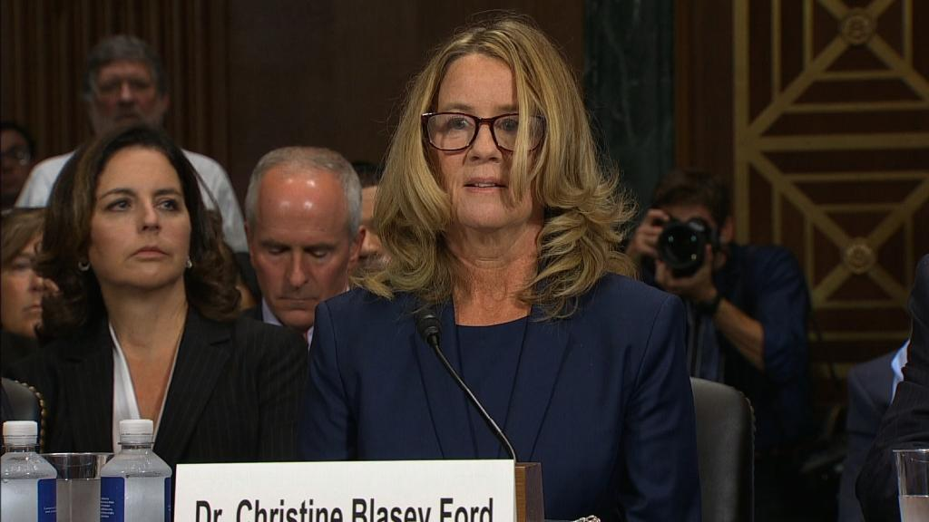 Christine Blasey Ford chokes up: I'm terrified