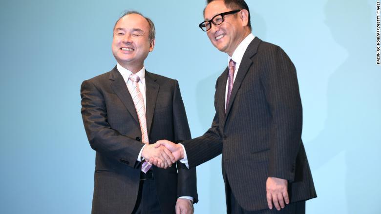 SoftBank Masayoshi Son Toyota Akio Toyoda