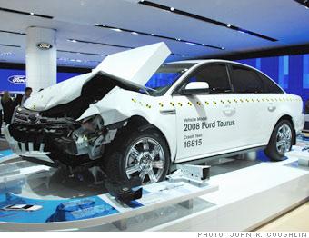 Crashed Ford Taurus
