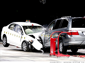 As Part Of The Companys Internal Safety Testing Honda Crashed A Civic Compact Car Head On Into Much Heavier Odyssey Minivan