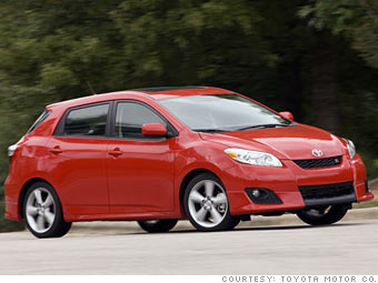 Consumer Reports' most reliable cars - Wagons, minivans: Toyota Matrix (6) - CNNMoney.com