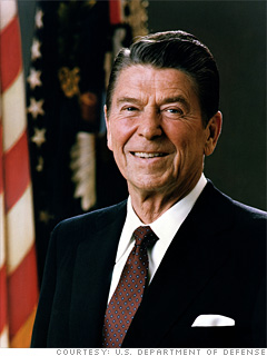 Ronald Reagan, <br> 40th President of the United States