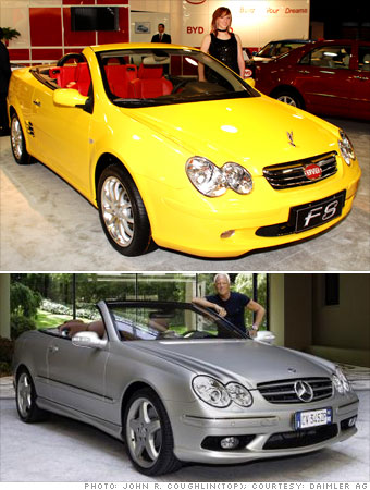 BYD F8 vs. Mercedes CLK