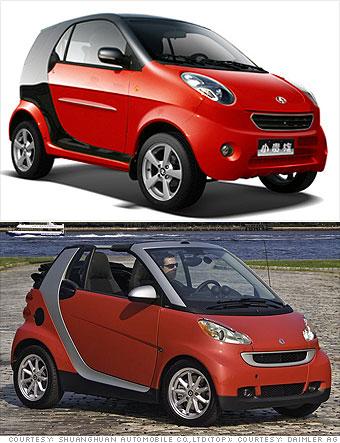 Shuanghuan Noble vs. Mercedes Smart Fortwo