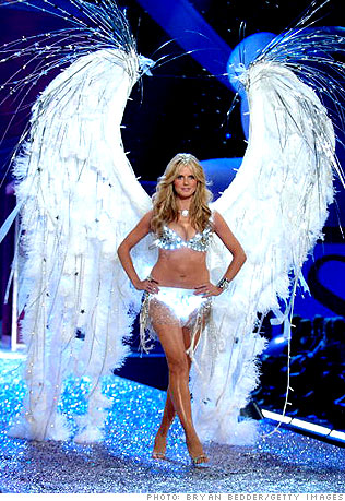 Angelic Heidi walks the runway