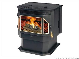 Pellet burning stoves