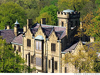 10 Most Expensive Colleges Kenyon College 3 Cnnmoney Com