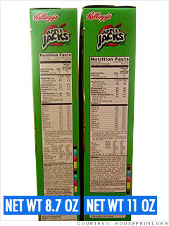The incredible shrinking cereal box