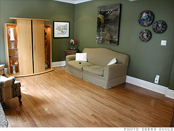 A too-bare family room...