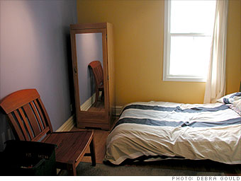 A neglected guest bedroom...