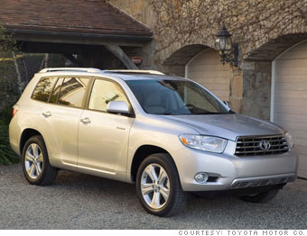 consumer reports 10 best cars mid size suv toyota highlander 4. Black Bedroom Furniture Sets. Home Design Ideas