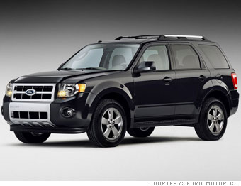 American Cars Red White And Cheap Ford Escape 5 Cnnmoney Com
