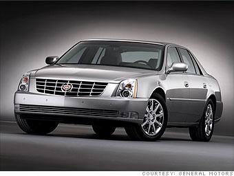 Luxury sedan: Cadillac DTS