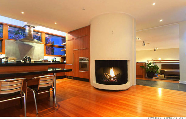 Buy edward cullen 39 s twilight house open floor plan 3 for House plans with fireplace in center of house