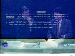 Windows 98 is plug and ... oops