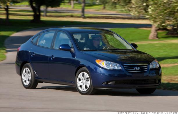 10 best cars: Consumer Reports - Small sedan: Hyundai Elantra SE (3