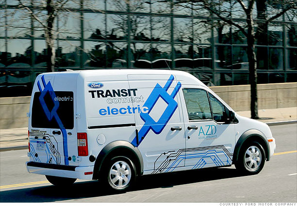 Electric trucks prepare for delivery ford transit for Ford motor company pension calculator