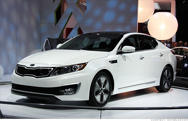 new green cars from l a auto show kia optima hybrid 4. Black Bedroom Furniture Sets. Home Design Ideas