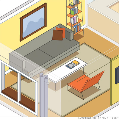 Living room: Put your sofa in the right spot