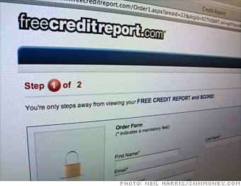 'Free' credit reports that'll cost you