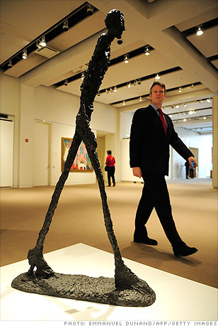 5 most expensive pieces of art - L'Homme qui marche I (1 ...