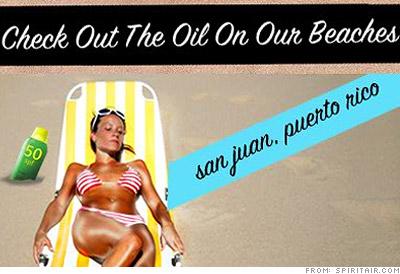 Oiled-up beach bums