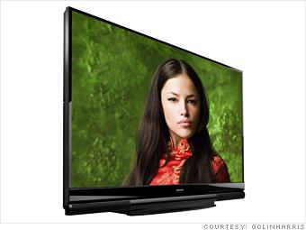 1) A big 3-D TV
