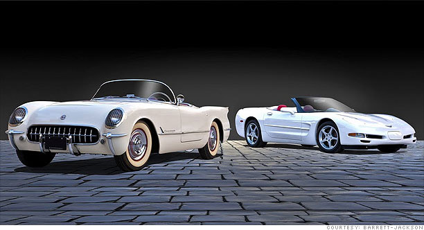 collector cars modern vs classic corvette 2003 1953 5. Black Bedroom Furniture Sets. Home Design Ideas