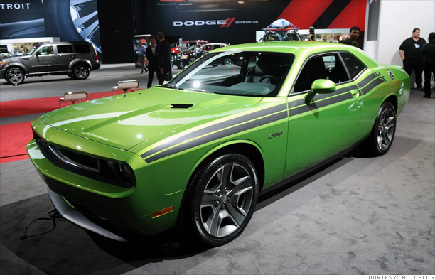 Auto Paint Prices >> Coolest cars from the Chicago Auto Show - Dodge Challenger 'Green with Envy' (4) - CNNMoney.com